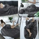 Weighted Blanket Premium 100% Natural Cotton & Glass Beads Heavy Blanket Fits Queen\King Bed