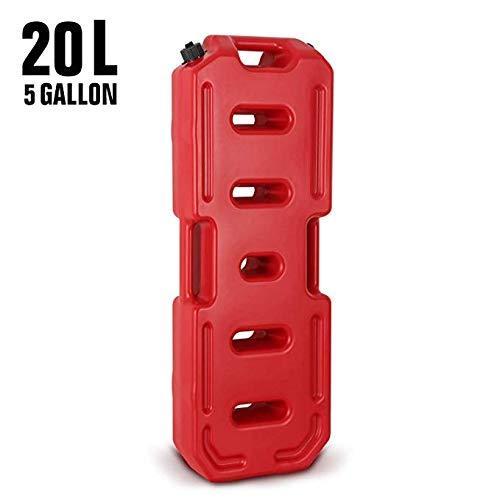 Reliancer Fuel Tank 5.28 Gallons Gas Cans 20L Portable Spare Fuel Oil Petrol Diesel Gasoline Gas Storage Container Tank Emergency Backup for Off Road Car SUV ATV Pickups Motorcycle Jeep JK Wrangler