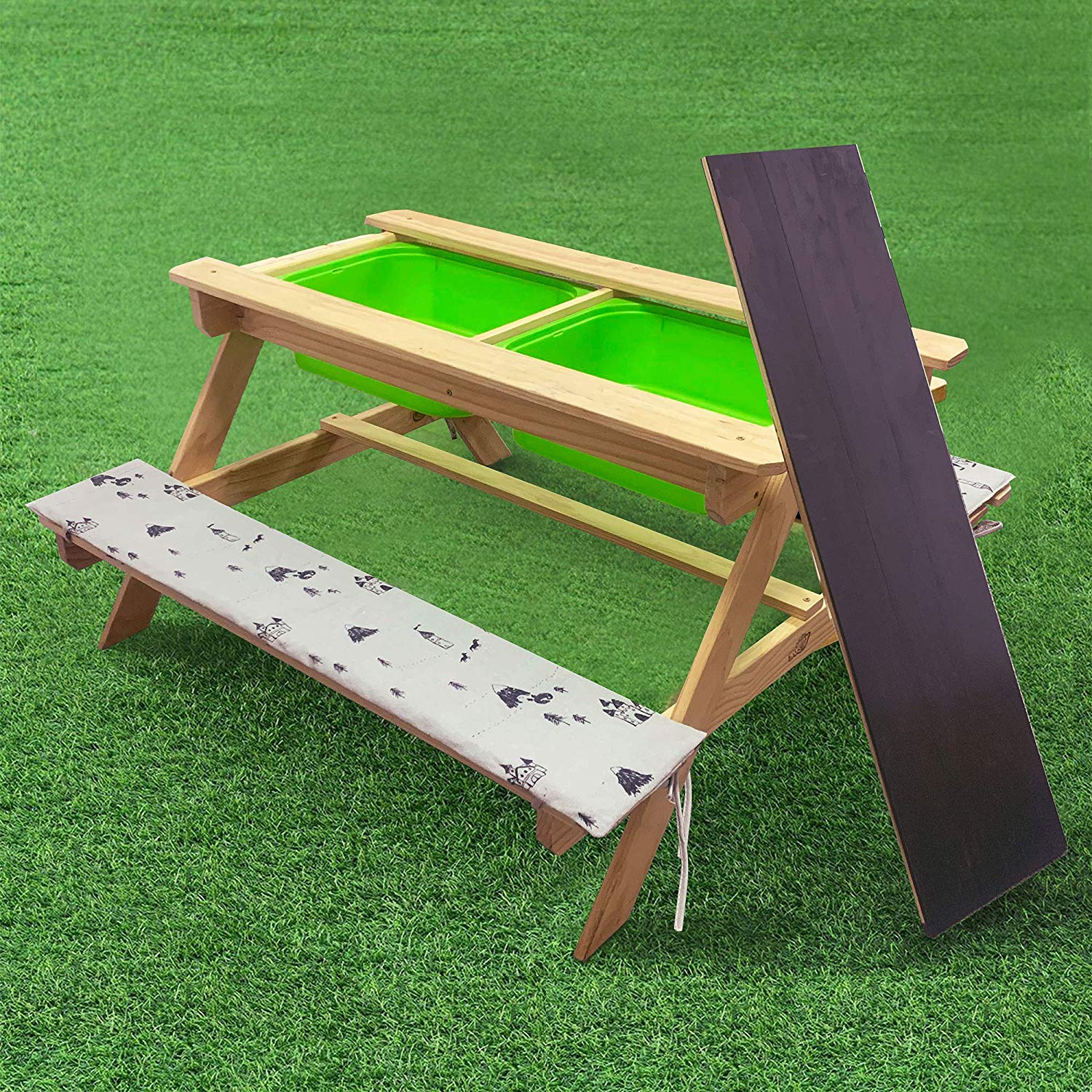 Kids Picnic Table And Chairs Set W