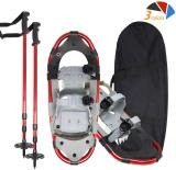 Reliancer Snowshoes Kits w/2 Trekking Poles All Terrain Mountaineering Snow Shoes Anti-Shock Aluminum Alloy Adventure Trail Hiking Snowshoes w/Carrying Bag for Men Women Advanced Users