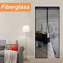 Reliancer Fiberglass Magnetic Screen Door Large Magnet Patio Door Mesh Curtain for Door Opening Full Frame Velcro Keep Fly Bug Mosquito Out