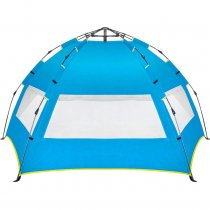 Reliancer Easy Up Beach Tent,Family Beach Sun shelter,Deluxe Wide View of the 3 Windows