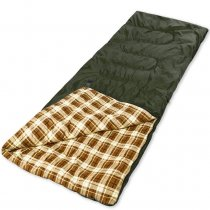 Warm Weather Sleeping Bag Envelope Shaped for Hiking Camping