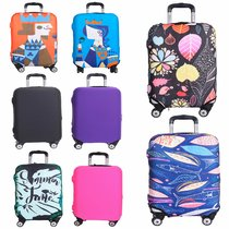 Travel Luggage Cover Spandex Suitcase Protector Fits 18-32 Inch Luggage Washable Elastic Suitcase Bag Cover Stretchy Dustproof Travel Baggage Protector Cover 3D Colorful Pattern