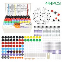 Chemistry Molecular Model Kit 444PCS Organic and Inorganic Modeling Students Teacher Set with Atoms Bonds A Fullerene Set Instructional Guide for Brisk Learner Kids Scientist for Learning Science