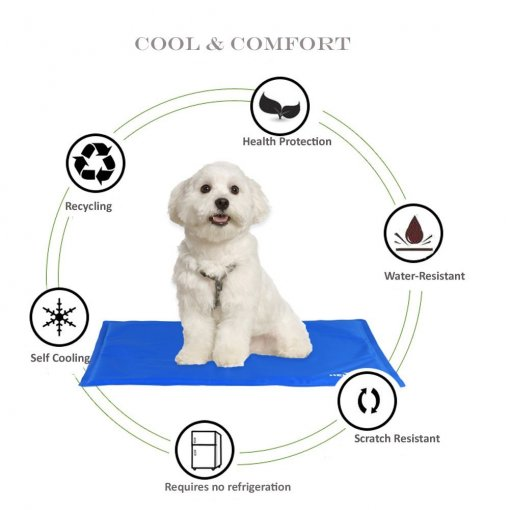 Pet Summer Cool Mat Self Cooling Comfortable Dog Mat Pad Extra Large Pressure-Activated Gel Cold Ice Pad Non-Toxic Cats Freezing Floor Bed Sofa Mat for Kennels Crates Beds Car Seat