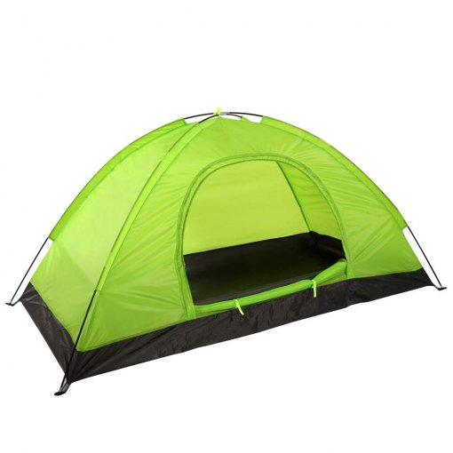 1 Person Backpacking Tent 2 Doors and Vestibules(Lawngreen)