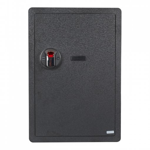 Reliancer Fingerprint Security Safe Box Fireproof Waterproof Lock Box Cabinets Gun Pistol Cash Strongbox Solid Steel Safety Jewelry Storage Money Boxes w/Deadbolt Lock&2 Emergency Keys&4 Battery Wall-Anchoring