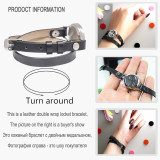 New Design Tree of life Bracelets Real Leather Essential Oil Diffuser Aromatherapy Locket Bracelets for Women