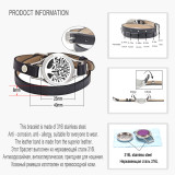 Love Tree of life Bracelets Real Leather Essential Oil Diffuser Locket Bracelets for Women Aromatherapy Bracelet&bangle