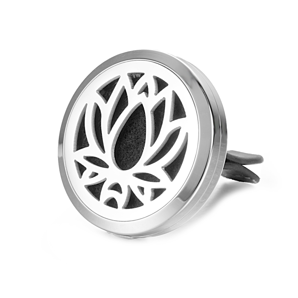 30MM Essential Oil Locket Air Freshener For Car With AC Vent Clip