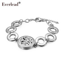 Aromatherapy Locket Bracelet Stainless Steel Magnetic Bangle 25mm round Essential Oil Diffuse Perfume locket Bracelets
