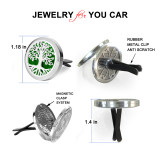Car Aromatherapy Essential Oil diffuser Stainless Steel Lockets Air Freshener with Vent Clip