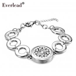 Silver classic Aromatherapy Bracelet Essential Oils Diffuser Locket Bracelets for women gift 25mm Perfume bracelet