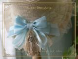 SweetDreamer Lolita straw hat with Lace bow Tassel/summer sunshade
