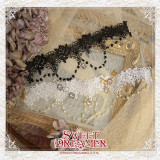 SweetDreamer Rose's Bride~lolita chorker ~Elegant water-soluble lace chain Lolita necklace