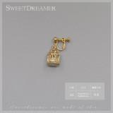SweetDreamer Bird cage~bowknot Swan Pearl Lolita ear clip