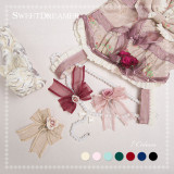 SweetDreamer Secret Garden~Sweet lolita bow &comb with rose/jewelry