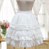 Lolita elegant chiffon skirt daily lolita petticoat