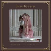Sweetdreamer White Star Princess worship gorgeous gem pearl - chain bronzing flower bud Vintage hair ornament