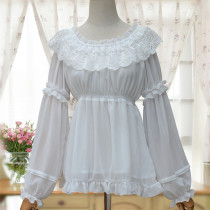 Sweet lolita Long-sleeved chiffon lace Lolita shirt/blouse