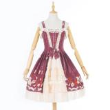 Lolita Daily Dress Summer New  Printed Short Sleeves lolita dress Princess Skirt