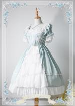 *Neverland*Colorful fairy tales Short sleeve chiffon op dress