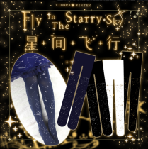 【Yidhra】Fly in the starry sky ~ Star cat & Galactic constellation  Lolita pantyhose spring and autumn socks