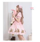 Lolita  cherry /strawberry printting daily princess skirt/op  dress