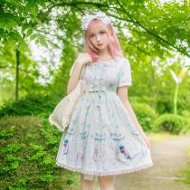 Lolita Daily Rabbit Ears Dress, Female Princess Skirt