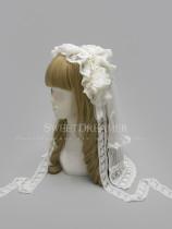 Sweetdreamer Fate implied record retro lace bead chain drape hair band Lolita head yarn suit