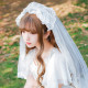 Sweet lolita Romantic lovely charming  girl's hair veil