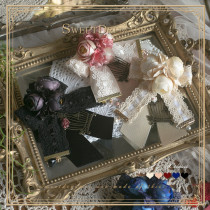 SweetDreamer Nightingale Illusion Camellia Birdcage Lace Bow Lolita Brooch
