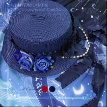 SweetDreamer Rose Manor  VintageLolita Straw Hat Visor