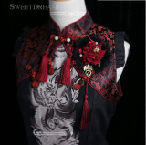 Sweetdreamer Chang'an Chinese style Rosa swam Dragon pendant Butterfly Lolita Real Rabbit hair Pill