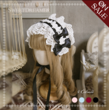 Sweetdreamer Red Hat Rose lace Lolita hairband