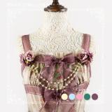 Sweetdreamer Little Tuoli Campanulaceae Pearl Lolita Chest Chain Pin Decoration Pearl Chain