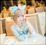 Sweetdreamer Baby ribbt Plush rabbit ear bow pearl Lolita hair band