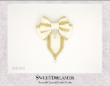 Sweetdreamer Round table Knight Cross Rose Lolita hairpin brooch.