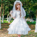Sweet Lolita S/S chiffon lovely princess high waist  dress