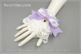 Sweetdreamer Dessert party  strawberry lace cute bow Lolita Wristcuffs
