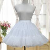 Sweet Lolita  half-length glass yarn skirt /petticoat