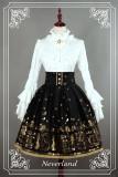 *Neverland*Swan lake lolita gold high waist half skirt sk