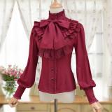 Sweet Lolita long-sleeved blouse 2018 S/A Retro Daily Girl Shirt