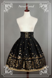 *Neverland*Swan lake lolita gold high waist half skirt sk