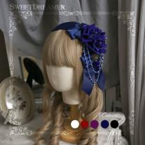 Sweetdreamer Rose Bride Rose bead chain Lolita hairband KC