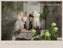 Sweetdreamer Secret Garden Vintage lace rose piont porphyra straw hat side clip