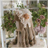 Sweetdreamer Garden Anne rose lace bow Lolita hairband Wristcuffs suit