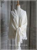 SweetDreamer Girl Saga Vintage Retro Elegant Cotton Line Lace Shawl