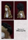 SweetDreamer Walish Lisa Butterfly Beaded Chain Detachable Lolita Wool Beret